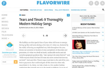 http://flavorwire.com/347734/tears-and-tinsel-9-thoroughly-modern-holiday-songs