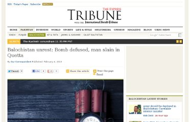 http://tribune.com.pk/story/502316/balochistan-unrest-bomb-defused-man-slain-in-quetta/