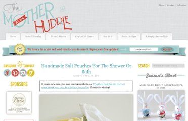 http://www.themotherhuddle.com/handmade-salt-pouches-for-the-shower-or-bath/