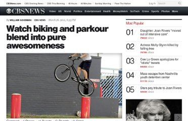 http://www.cbsnews.com/8301-504784_162-57404792-10391705/watch-biking-and-parkour-blend-into-pure-awesomeness/