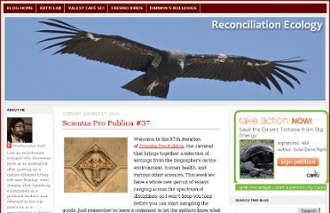 http://blog.reconciliationecology.org/2010/08/scientia-pro-publica-37.html
