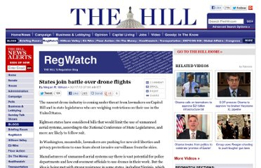 http://thehill.com/blogs/regwatch/legislation/283467-states-join-battle-over-drone-flights