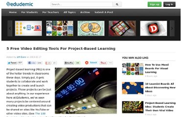 http://edudemic.com/2013/02/free-video-editing-tools-for-project-based-learning/