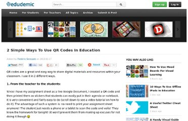 http://edudemic.com/2013/02/qr-codes-in-education/