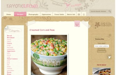 http://www.kayotic.nl/blog/creamed-corn-and-peas