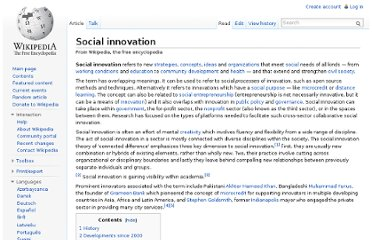 http://en.wikipedia.org/wiki/Social_innovation