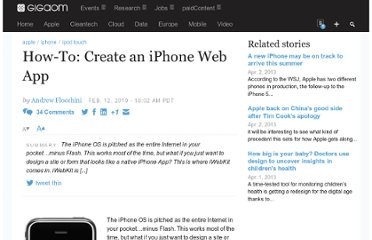 http://gigaom.com/2010/02/12/how-to-create-an-iphone-web-app/