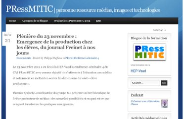 http://www.pressmitic.ch/pleniere-du-23-novembre-emergence-de-la-production-chez-les-eleves-du-journal-freinet-a-nos-jours/