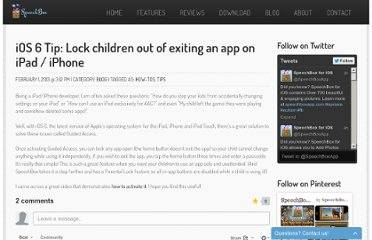 http://www.speechboxapp.com/2013/02/ios-6-tip-lock-children-out-of-exiting-app-on-ipad-iphone/