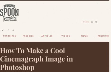 http://blog.spoongraphics.co.uk/tutorials/how-to-make-a-cool-cinemagraph-image-in-photoshop