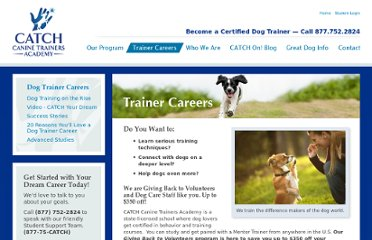 http://www.catchdogtrainers.com/trainer-careers/giving-back-to-volunteers-program/