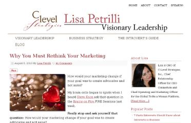 http://www.lisapetrilli.com/2010/08/05/why-you-must-rethink-your-marketing/