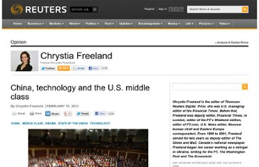http://blogs.reuters.com/chrystia-freeland/2013/02/15/china-technology-and-the-u-s-middle-class/
