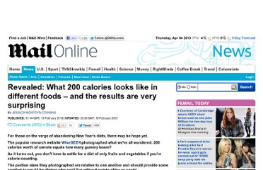 http://www.dailymail.co.uk/news/article-2280846/Revealed-What-200-calories-looks-like-different-foods--results-surprising.html