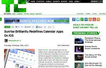 http://techcrunch.com/2013/02/19/sunrise-brilliantly-redefines-calendar-apps-on-ios/