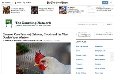 http://learning.blogs.nytimes.com/2012/10/26/common-core-practice-chickens-clouds-and-the-view-outside-your-window/