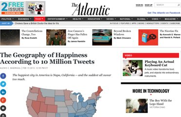 http://www.theatlantic.com/technology/archive/2013/02/the-geography-of-happiness-according-to-10-million-tweets/273286/