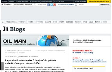 http://petrole.blog.lemonde.fr/2013/02/21/la-production-totale-des-5-majors-du-petrole-est-en-declin-depuis-2004/