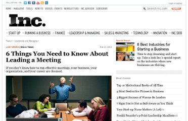 http://www.inc.com/steve-tobak/6-ideas-for-awesome-meetings.html