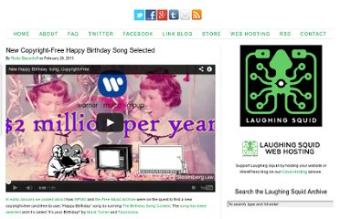 http://laughingsquid.com/new-copyright-free-happy-birthday-song-selected/