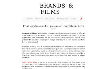 http://brandsandfilms.com/2011/11/product-placement-in-pictures-crazy-stupid-love/