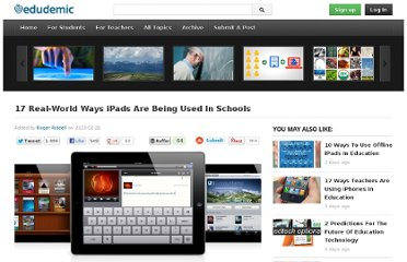 http://edudemic.com/2013/02/ways-ipads-are-being-used-in-schools/