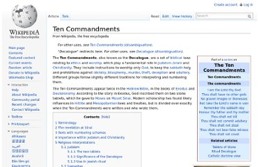 http://en.wikipedia.org/wiki/Ten_Commandments