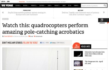 http://www.theverge.com/2013/2/21/4015930/quadrocopter-pole-acrobatics-video