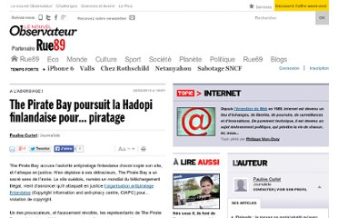 http://www.rue89.com/2013/02/22/pirate-bay-poursuit-le-hadopi-finlandais-pour-piratage-239893