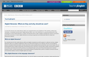 http://www.teachingenglish.org.uk/articles/digital-literacies-what-are-they-why-should-we-care