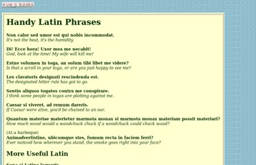 http://web.mit.edu/afs/athena.mit.edu/user/d/r/dryfoo/www/Funny-pages/handy-latin.html