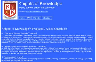 http://knights-of-knowledge.com/faq.html
