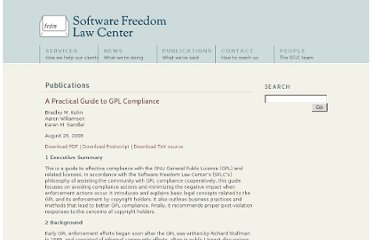 http://www.softwarefreedom.org/resources/2008/compliance-guide.html