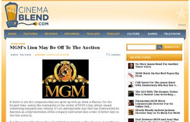 http://www.cinemablend.com/new/MGM-s-Lion-May-Be-Off-To-The-Auction-15661.html