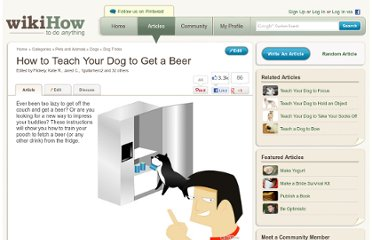 http://www.wikihow.com/Teach-Your-Dog-to-Get-a-Beer