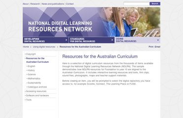 http://www.ndlrn.edu.au/using_digital_resources/australian_curriculum_resources/resources_for_the_australian_curriculum.html