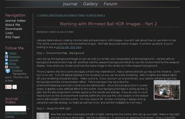 http://www.ruffstuffcg.com/journal/working-with-mirrored-ball-hdr-images-part-2.html