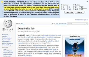 http://en.wikipedia.org/wiki/Despicable_Me