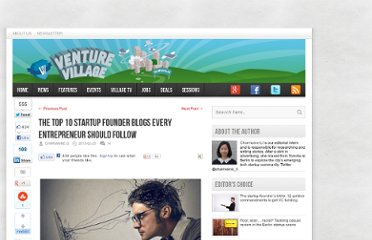 http://venturevillage.eu/10-startup-founder-blogs