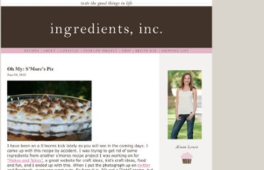 http://www.ingredientsinc.net/2010/06/oh-my-smores-pie/