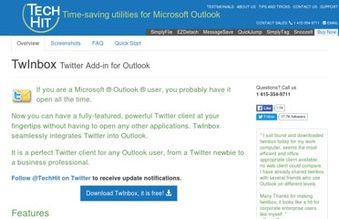 http://www.techhit.com/TwInbox/twitter_plugin_outlook.html