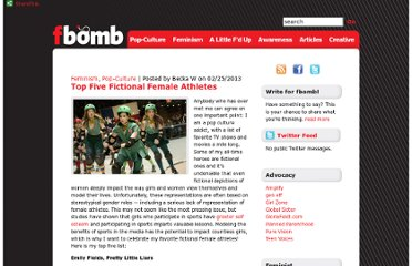 http://thefbomb.org/2013/02/top-five-fictional-female-athletes/