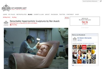 http://www.mymodernmet.com/profiles/blogs/ron-mueck-sculptures