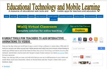 http://www.educatorstechnology.com/2013/02/8-great-tools-for-teachers-to-add.html