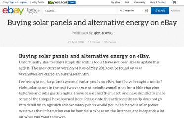 http://reviews.ebay.com.au/Buying-solar-panels-and-alternative-energy-on-eBay?ugid=10000000001871986