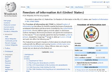 http://en.wikipedia.org/wiki/Freedom_of_Information_Act_(United_States)