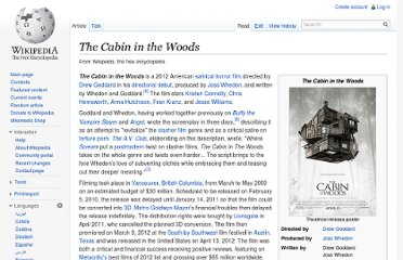 http://en.wikipedia.org/wiki/The_Cabin_in_the_Woods