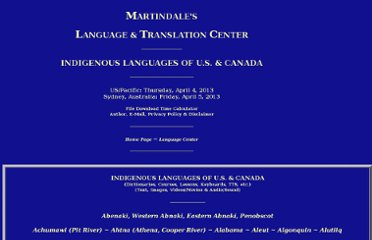 http://www.martindalecenter.com/Language_1_Indigenous.html