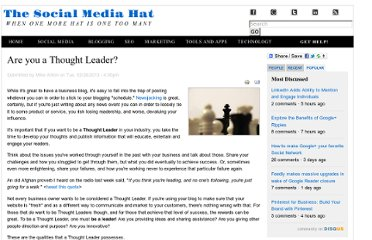 http://www.thesocialmediahat.com/blog/are-you-thought-leader-02262013