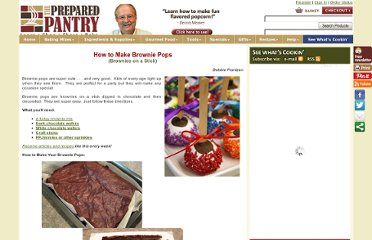 http://www.preparedpantry.com/Recipes/how-to-make-brownies-on-a-stick.htm